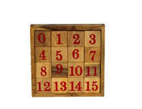 Wooden puzzle toy Stock Photo