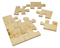 Wooden puzzle Royalty Free Stock Images