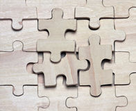 Wooden puzzles. Stock Photography