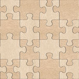 Wooden puzzles assembled for seamless background, White Oak wood Stock Images