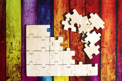 Wooden puzzles Royalty Free Stock Images