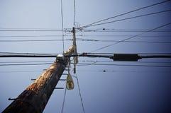 Wooden pylon Stock Image