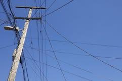Wooden pylon Stock Images