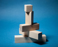 Wooden pyramid Royalty Free Stock Photo