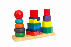 Wooden pyramid toy Royalty Free Stock Images