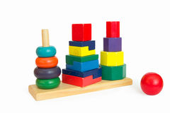 Wooden pyramid toy Stock Photo