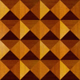 Wooden pyramids stacked for seamless background Stock Images
