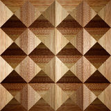 Wooden pyramids stacked for seamless background Stock Photography