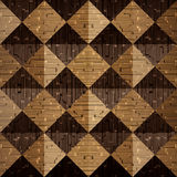 Wooden pyramids stacked for seamless background Royalty Free Stock Photo