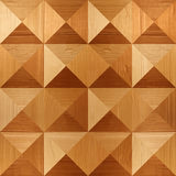 Wooden pyramids stacked for seamless background Royalty Free Stock Images