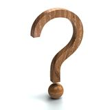 Wooden question mark Stock Photos