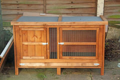 Wooden Rabbit Hutch Royalty Free Stock Images