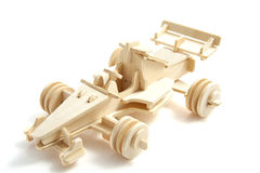 Wooden race car Stock Images