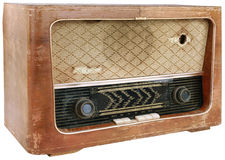 Wooden Radio Cutout Royalty Free Stock Image