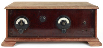 Wooden Radio Cutout Stock Image