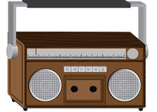 Wooden radio  Stock Photography