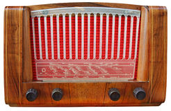 Wooden Radio Tuner Stock Photography