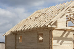 Wooden rafter framing Stock Images