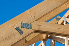 Wooden rafters Stock Photography