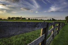 Free Wooden Rail Fence In Kentucky Bluegrass Region Stock Photos - 148491063