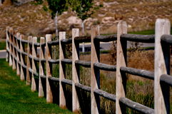 Wooden Rail Fence Royalty Free Stock Photography