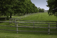 Wooden rail fence Stock Image