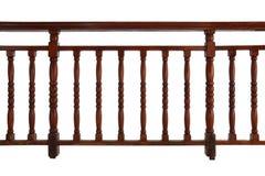 Wooden Railing. Wooden decorative railing isolated on white background stock image