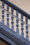 Wooden Railing of an antique staircase Stock Photo