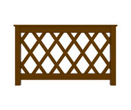 Wooden Railing with pattern isolated on white Royalty Free Stock Image