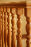 Wooden railing Royalty Free Stock Images