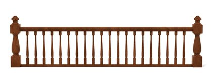 Wooden railings Stock Photography