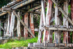 Wooden railroad trestle Royalty Free Stock Photography