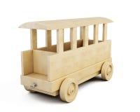 Wooden railway car close-up. 3d. Stock Image