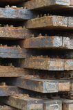 Wooden railway sleepers 2 Royalty Free Stock Image