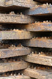 Wooden railway sleepers 3 Stock Image