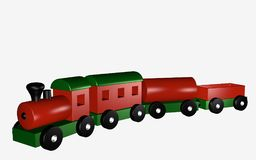 Wooden railway with wagons Stock Photos
