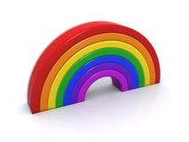 Wooden rainbow Stock Photos