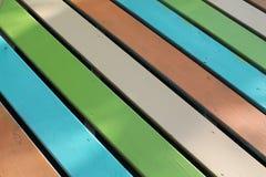 Wooden Rainbow. Style deck Stock Image