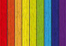Wooden rainbow background Royalty Free Stock Images