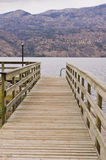 Wooden ramp leading to boat dock Stock Photography