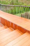 Wooden ramped access, wheelchair ramp for disabled people. Stock Images