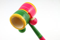 Wooden rattle Stock Photo