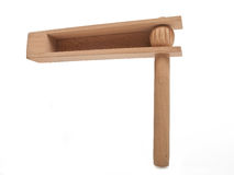Wooden rattle Stock Photography