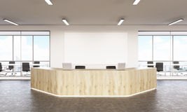 Wooden reception Royalty Free Stock Image