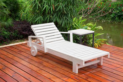 Wooden reclining chair Royalty Free Stock Photos