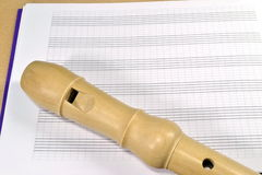 A wooden recorder Stock Image