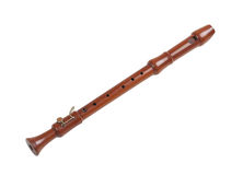 Wooden recorder. The wooden recorder, one of the musical instrument Stock Photo