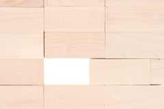Wooden rectangle blocks Stock Photography
