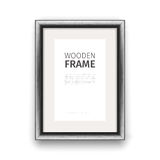 Wooden Rectangle Frame Dark Stock Image