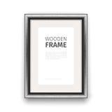 Wooden Rectangle Frame Dark Stock Image